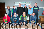 Moyvane Badminton Tournament : taking part in the annuakl Moyvane Badminton event on Sunday last at the Moyvane Sports centre were in front Kevin Hudson, Liam Corridan, Michael Nolan & Oliver carmody. Dack : Eileen Roche, Carmel Hudson, Jamie Elliott, Michelle Corridan & Tim Larkin all from Moyvane.