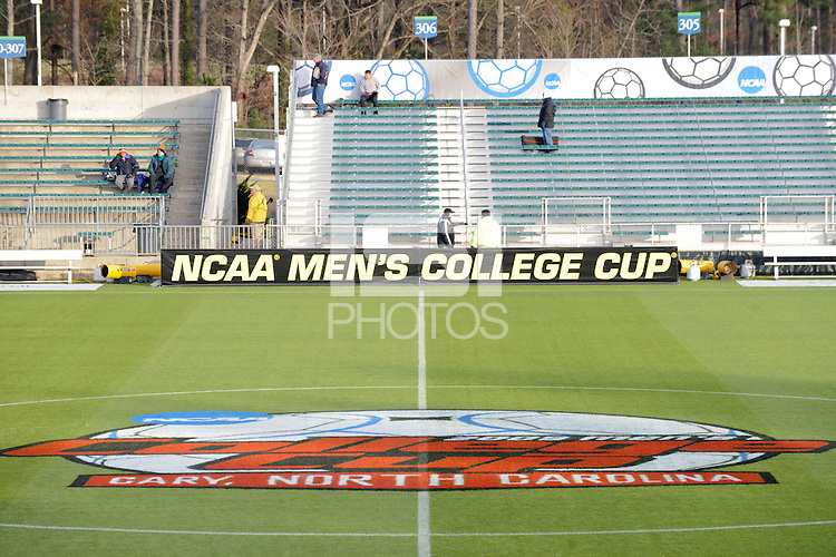 General views of WakeMed Stadium prior to the first semi-final match of the 2009 NCAA Men's College Cup at WakeMed Soccer Park in Cary, NC on December 11, 2009.