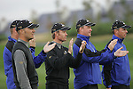 European team cheer on their teammates in Fridays Fourball's at the Seve Trophy on the 28th of September 2007 at the The Heritage Golf & Spa Resort, Killenard, Co Laois, Ireland. (Photo by Manus O'Reilly/NEWSFILE)