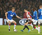 28.11.2019: Feyenoord v Rangers: Filip Helander and Glen Kamara with Steven Berghuis