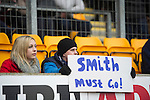 St Johnstone v Dundee.....02.01.13      SPL.A Dundee fan gets his message across.Picture by Graeme Hart..Copyright Perthshire Picture Agency.Tel: 01738 623350  Mobile: 07990 594431