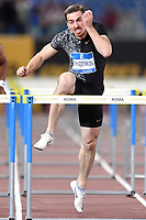 Sergey Shubenkov of Russia competes in the men's 110m hurdles at the IAAF Diamond League Golden Gala <br /> Roma 06-06-2019 Stadio Olimpico, <br /> Meeting Atletica Leggera <br /> Photo Andrea Staccioli / Insidefoto