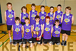 Scoil Eoin Balloonagh NS who won the Primary Schools Basketball Cup in Mercy Mounthawk on Monday night.<br /> Kneeling l to r: Jake O'Connor, Tomas Kennedy (MVP), Paddy Lane (Capt), Sean Heaslip and Brendan Meehan.<br /> Back l to r: Daniel Kirby, Finan Ryan, Conor Galvin,  Tadhg Moran, Brendan Linnane, Ben Murphy and Killian O'Brien.