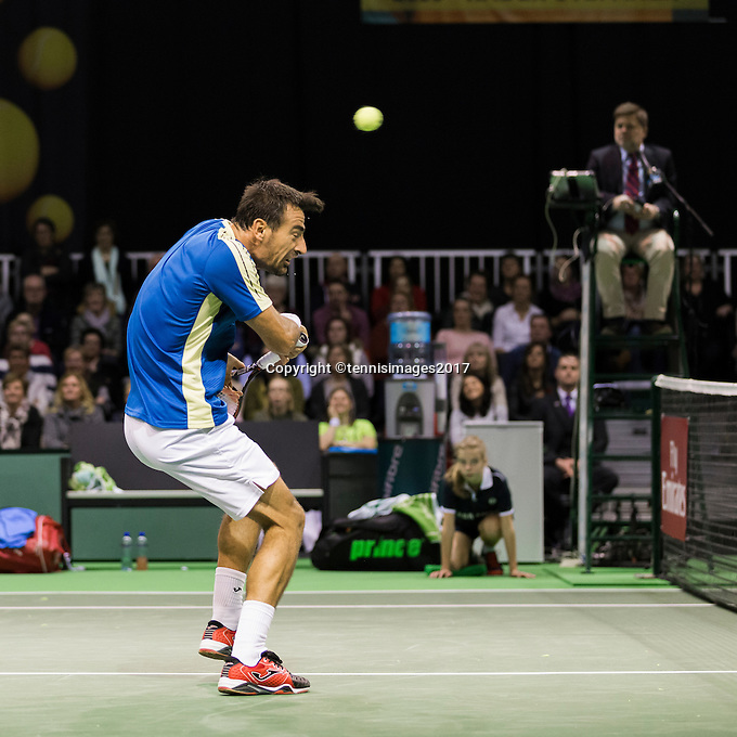 ABN AMRO World Tennis Tournament, Rotterdam, The Netherlands, 14 februari, 2017, Ivan Dodig (CRO)<br /> Photo: Henk Koster