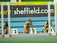 Photo: Ady Kerry/Richard Lane Photography.. Aviva European Trials and UK Championships, 14/02/2009..Lucy Boggis in the 60m hurdles heats.