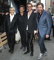 June 18 , 2012: Nick Rhodes, Roger Taylor,  John Taylor and Simon Le Bon of Duran Duran at Good Morning America in New York City. © RW/MediaPunch Inc. NORTEPHOTO.COM<br />
