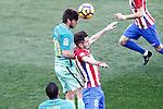 Atletico de Madrid's Saul Niguez (r) and FC Barcelona's Sergi Roberto during La Liga match. February 26,2017. (ALTERPHOTOS/Acero)