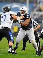 12 September 2015:  Penn State DT Austin Johnson (99) rushes the quarterback. The Penn State Nittany Lions defeated the Buffalo Bulls 27-14 at Beaver Stadium in State College, PA.