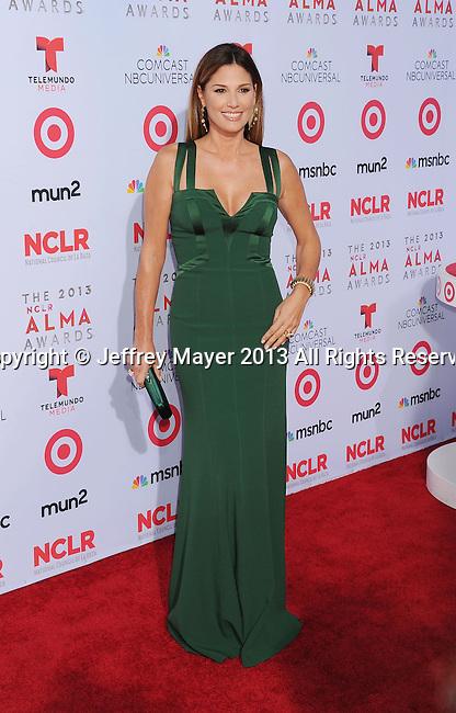 PASADENA, CA- SEPTEMBER 27: Actress Daisy Fuentes arrives at the 2013 NCLA ALMA Awards at Pasadena Civic Auditorium on September 27, 2013 in Pasadena, California.