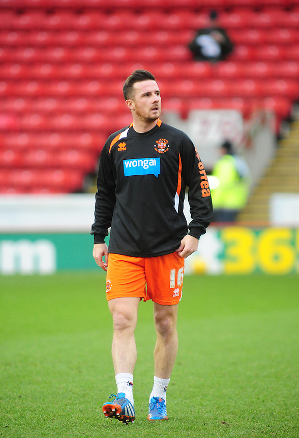 Blackpool's Barry Ferguson during the pre-match warm-up <br /> <br /> Photo by Chris Vaughan/CameraSport<br /> <br /> Football - The Football League Sky Bet Championship - Barnsley v Blackpool - Saturday 18th January 2014 - Oakwell Stadium - Barnsley<br /> <br /> &copy; CameraSport - 43 Linden Ave. Countesthorpe. Leicester. England. LE8 5PG - Tel: +44 (0) 116 277 4147 - admin@camerasport.com - www.camerasport.com