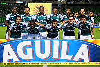 PALMIRA-COLOMBIA-27-04-2018: Los jugadores de Deportivo Cali, posan para una foto, durante partido entre Deportivo Cali y Atlético Bucaramanga, de la fecha 18 por la liga Aguila I 2018, jugado en el estadio Deportivo Cali (Palmaseca) en la ciudad de Palmira. / The players of Deportivo Cali, pose for a photo, during a match between Deportivo Cali and Atletico Bucaramanga, of the 18th date for the Liga Aguila I 2018, at the Deportivo Cali (Palmaseca) stadium in Palmira city. Photo: VizzorImage  / Nelson Rios / Cont.