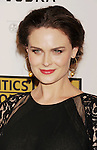 BEVERLY HILLS, CA - JUNE 18: Emily Deschanel arrives at The Critics' Choice Television Awards at The Beverly Hilton Hotel on June 18, 2012 in Beverly Hills, California.