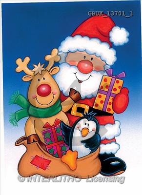 Stephen, CHRISTMAS SANTA, SNOWMAN, paintings, santa, elk, penguin(GBUK13701/1,#X#) Weihnachtsmänner, Schneemänner, Weihnachen, Papá Noel, muñecos de nieve, Navidad, illustrations, pinturas