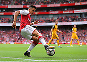 1st October 2017, Emirates Stadium, London, England; EPL Premier League Football, Arsenal versus Brighton; Alexis Sanchez of Arsenal keeps the ball in play