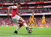 1st October 2017, Emirates Stadium, London, England; EPL Premier League Football, Arsenal versus Brighton; Alexis Sanchez of Arsenal keeps the ball in play