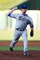 Dan Houston (36) of the Tulsa Drillers delivers a pitch during a game against the Springfield Cardinals at Hammons Field on July 19, 2011 in Springfield, Missouri. Tulsa defeated Springfield 17-11. (David Welker / Four Seam Images)