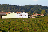 Vineyard. Winery building. Chateau Juguet. Saint Emilion, Bordeaux, France