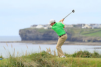 Thomas Neenan (Lahinch) on the 12th tee during Round 3 of The South of Ireland in Lahinch Golf Club on Monday 28th July 2014.<br /> Picture:  Thos Caffrey / www.golffile.ie