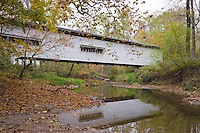 The Portland Mills Covered Bridge over Little Raccoon Creek; Parke County, IN