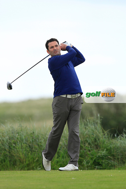 Gary O'Flaherty (Cork) on the 10th tee during Round 3 of the East of Ireland in the Co. Louth Golf Club at Baltray on Monday 2nd June 2014.<br /> Picture:  Thos Caffrey / www.golffile.ie