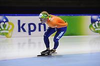 SCHAATSEN: HEERENVEEN: IJsstadion Thialf, 10-01-2013, Seizoen 2012-2013, Essent ISU EK allround training, Linda de Vries (NED), ©foto Martin de Jong