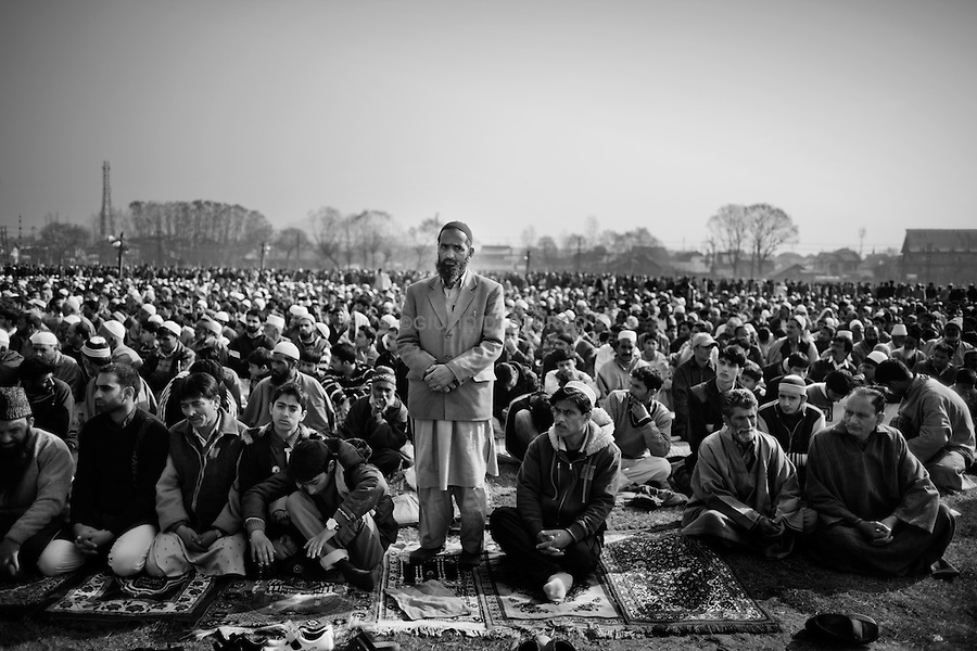 People gets together for the Eid Prayer at the  Srinagar Martyr's Graveyard during on 17, November 2010. After the violence in August 2010, the situation in kashmir still uncertain.Political leaders are under House-arrest and the people on the street feels the oppression of the Indian army.Everyone is waiting, and everybody knows Kashmir is going to explode again.