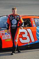 May 2, 2008; Richmond, VA, USA; NASCAR Sprint Cup Series driver Jeff Burton during qualifying for the Dan Lowry 400 at the Richmond International Raceway. Mandatory Credit: Mark J. Rebilas-US PRESSWIRE