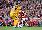 1st October 2017, Emirates Stadium, London, England; EPL Premier League Football, Arsenal versus Brighton; Alexis Sanchez of Arsenal runs at the Brighton defence