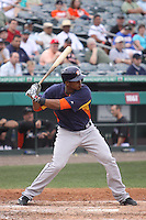 Houston Astros right fielder Jimmy Paredes (38) at bat against the Miami Marlins during a spring training game at the Roger Dean Complex in Jupiter, Florida on March 12, 2013. Houston defeated Miami 9-4. (Stacy Jo Grant/Four Seam Images)........