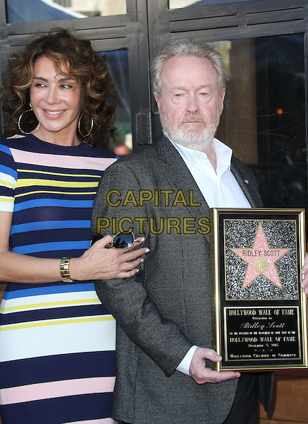 Hollywood, CA - November 05 Giannina Facio, Ridley Scott Attending Ridley Scott Honored With Star On The Hollywood Walk Of Fame At On The Hollywood Walk Of Fame On November 05, 2015. <br /> CAP/MPI/FS<br /> &copy;FS/MPI/Capital Pictures