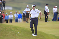 Russell Knox (SCO) on the 18th fairway on the play-off hole during Round 4 of the Dubai Duty Free Irish Open at Ballyliffin Golf Club, Donegal on Sunday 8th July 2018.<br /> Picture:  Thos Caffrey / Golffile