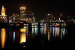 Providence Skyline At Night, viewed from the Point St. Bridge.