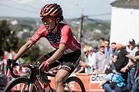 Coryn Rivera (USA/Sunweb) up the infamous Mur de Huy.<br /> <br /> 22nd la Flèche Wallonne Féminin 2019 (1.WWT)<br /> 1 Day Race: Huy – Huy 118,5km<br /> women's elite race<br /> <br /> ©kramon