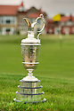 The Claret Jug on display at Royal Liverpool GC, Venue for the 2014 Open Championship.<br /> Picture Credit / Phil Inglis