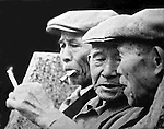 It was a Sunday morning in 1966 when I found these three elderly Japanese gentlemen enjoying their cigarettes and conversation.  I knew then I wanted to spend the rest of my life behind a camera.