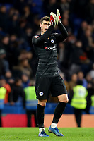 3rd March 2020; Stamford Bridge, London, England; English FA Cup Football, Chelsea versus Liverpool; Kepa Arrizabalaga of Chelsea celebrates the 2-0 win