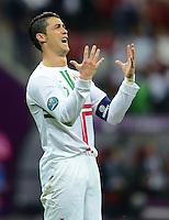 FUSSBALL  EUROPAMEISTERSCHAFT 2012   VIERTELFINALE Tschechien - Portugal              21.06.2012 Cristiano Ronaldo (Portugal) emotional