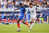 June 13th 2017, Stade de France, Paris, France; International football friendly, France versus England;  OUSMANE DEMBELE (fra) challenged by Dele Alli (eng)