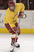 Julian Marcuzzi - Reigning national champions (2004 and 2005) University of Denver Pioneers practice on Friday morning, December 30, 2005 before hosting the Denver Cup at Magness Arena in Denver, CO.