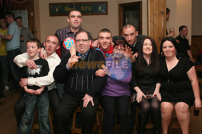Patrick Leddy with his family at his 21st in The Rugby Club...Photo NEWSFILE/Jenny Matthews.(Photo credit should read Jenny Matthews/NEWSFILE)....This Picture has been sent you under the condtions enclosed by:.Newsfile Ltd..The Studio,.Millmount Abbey,.Drogheda,.Co Meath..Ireland..Tel: +353(0)41-9871240.Fax: +353(0)41-9871260.GSM: +353(0)86-2500958.email: pictures@newsfile.ie.www.newsfile.ie.FTP: 193.120.102.198.