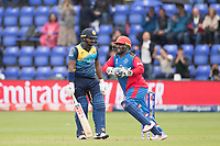 Mohammad Shahzad (Afghanistan) celebrates catching Kusal Perera (Sri Lanka) behind the wicket during Afghanistan vs Sri Lanka, ICC World Cup Cricket at Sophia Gardens Cardiff on 4th June 2019