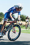 SITTARD, NETHERLANDS - AUGUST 16: Arnold Jeannesson of France riding for FDJ competes during stage 5 of the Eneco Tour 2013, a 13km individual time trial from Sittard to Geleen, on August 16, 2013 in Sittard, Netherlands. (Photo by Dirk Markgraf/www.265-images.com)
