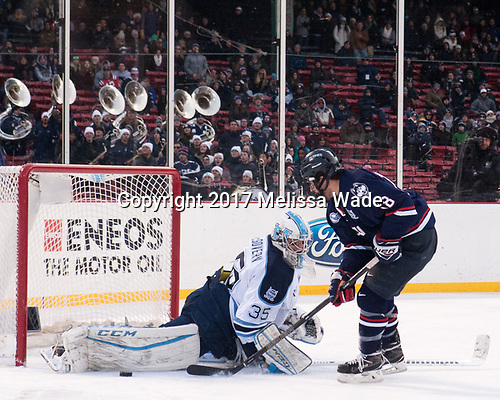 Rob McGovern (Maine - 35), Max Kalter (UConn - 18) - The University of Maine Black Bears defeated the University of Connecticut Huskies 4-0 at Fenway Park on Saturday, January 14, 2017, in Boston, Massachusetts.