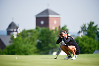 Belen Mozo (ESP) lines up her putt on 15 during Thursday's first round of the 72nd U.S. Women's Open Championship, at Trump National Golf Club, Bedminster, New Jersey. 7/13/2017.<br /> Picture: Golffile | Ken Murray<br /> <br /> <br /> All photo usage must carry mandatory copyright credit (&copy; Golffile | Ken Murray)