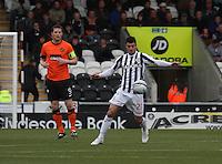 Lewis Guy in the St Mirren v Dundee United Clydesdale Bank Scottish Premier League match played at St Mirren Park, Paisley on 27.10.12.