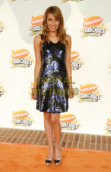 EMMA ROBERTS.20th Annual Nickelodeon Kids' Choice Awards held at UCLA's Pauley Pavilion, Westwood, California, USA,.31 March 2007..full length black and blue sequined dress shoes.CAP/ADM/RE.©Russ Elliot/AdMedia/Capital Pictures.