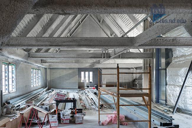 March 9, 2017; Nanovic Hall 4th floor under construction, Nanovic Hall (Photo by Matt Cashore/University of Notre Dame)