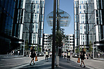 Spinningfields is an area of Manchester city centre, in North West England. It was specially developed in the 2000s as a business, retail and residential development of Manchester, and is located between Deansgate and the River Irwell. Developed by Allied London Properties, the £1.5 billion project consists of 20 new buildings, totalling approximately 430,000 sq metres of commercial, residential and retail space. It takes its name from Spinningfield, a narrow street which ran westwards from Deansgate. In 1968 Spinningfield and the area to the south were turned into Spinningfield Square, an open paved area. The Manchester Civil Justice Centre is a landmark building of the scheme and construction commenced on 1 Spinningfields, a 90-metre office building, in early 2015.