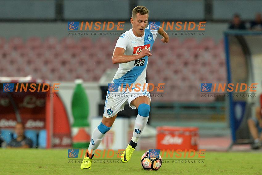 Arkadiusz Milik Napoli<br /> Napoli 7-08-2016  Stadio San Paolo<br /> amichevole / friendly match.<br /> Napoli - Monaco<br /> Foto Antonietta Baldassarre / Insidefoto