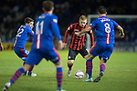 Inverness Caley Thistle v St Johnstone....20.01.15  SPFL<br /> Liam Caddis is closed down by Ross Draper<br /> Picture by Graeme Hart.<br /> Copyright Perthshire Picture Agency<br /> Tel: 01738 623350  Mobile: 07990 594431